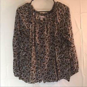 Women's white stag scrunchy medium size blouse